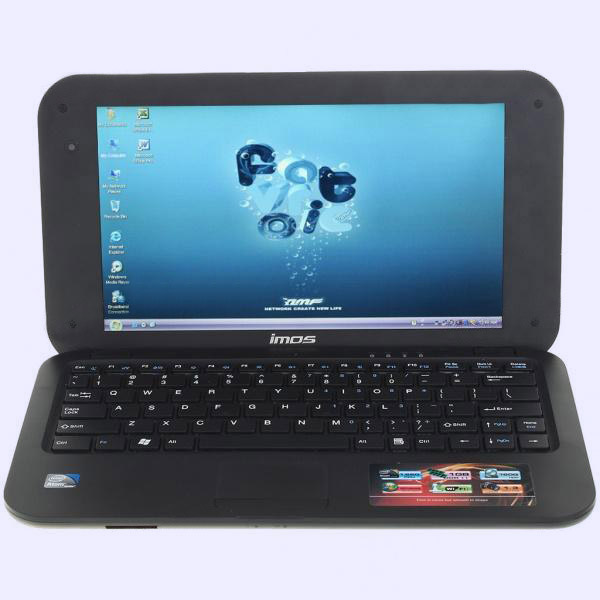 Нетбук 10 дюймов LCD Windows XP Intel Atom N450 CPU w/Wifi + камера (1.8GHz/160Гб HDD/1Гб DDR2) чёрный